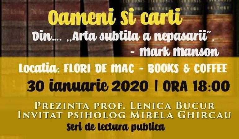 ASTĂZI: Seară de lectură publică la Flori de mac Books & Coffee