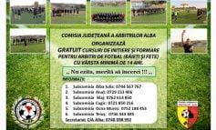 Comisia Județeană a Arbitrilor Alba organizează un nou curs de formare a Arbitrilor