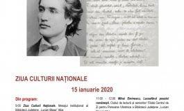 Manifestări dedicate Zilei Culturii Naționale și aniversării a 170 de ani de la nașterea poetului național Mihai Eminescu, la Alba Iulia