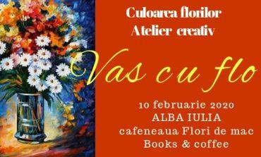 10 februarie: Atelier creztiv de pictură la Flori de mac Books & Coffee