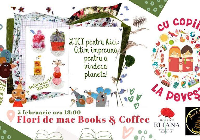 Miercuri: Ziua Internațională a Cititului Împreună, sărbătorită la Flori de mac Books & Coffee
