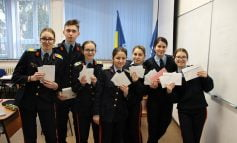 "Elevii militari au primit ""carte"" de la Dragobete"