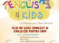 """Miercuri:English 4 Kids la Biblioteca Județeană """"Lucian Blaga"""" Alba"""