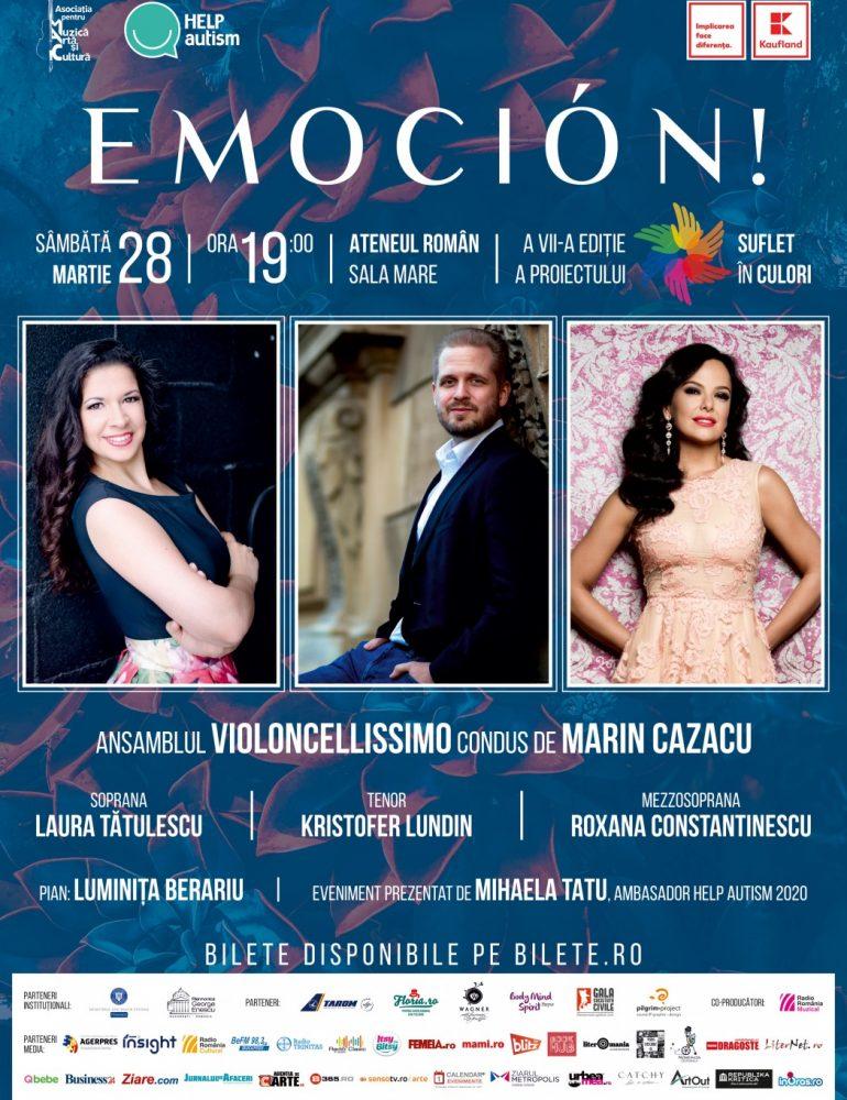 Concertul EMOCIÓN!, pe scena Ateneului Român