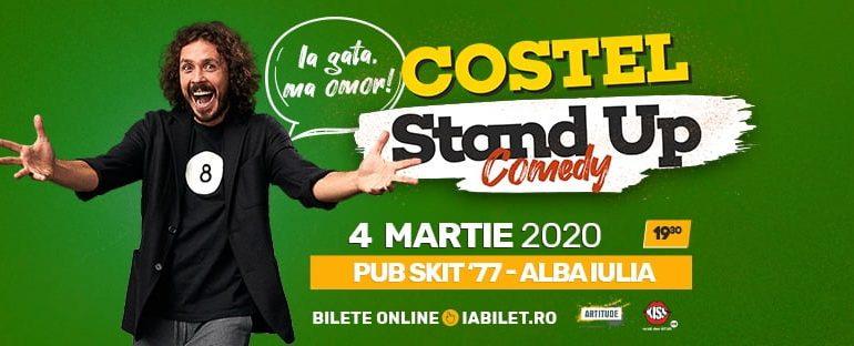 """Miercuri: Costel vă așteaptă cu spectacolul """"Ia gata, mă omor!"""", la Pub Skit`77 din Alba Iulia"""