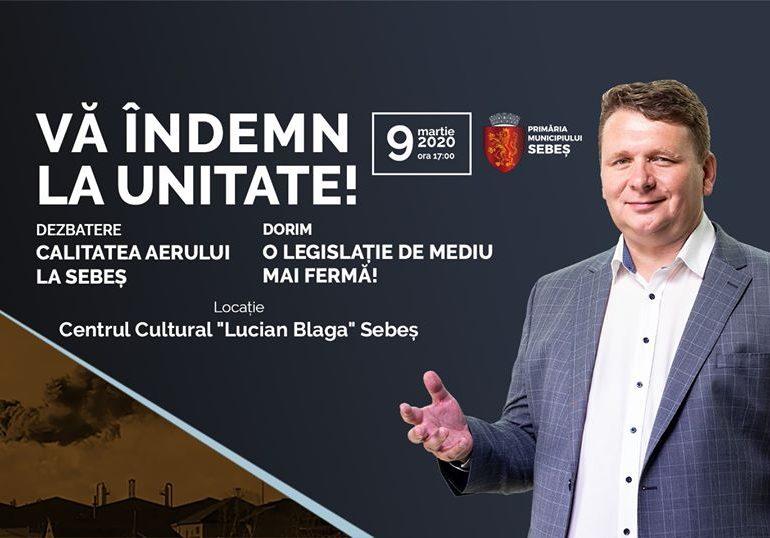 ASTĂZI: Consultare publică având ca temă consultarea aerului la Sebeș