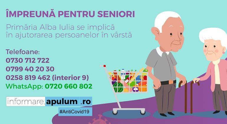 Primăria Alba Iulia livrează direct la ușa vârstnicilor din oraș pachete cu alimente de bază și medicamente