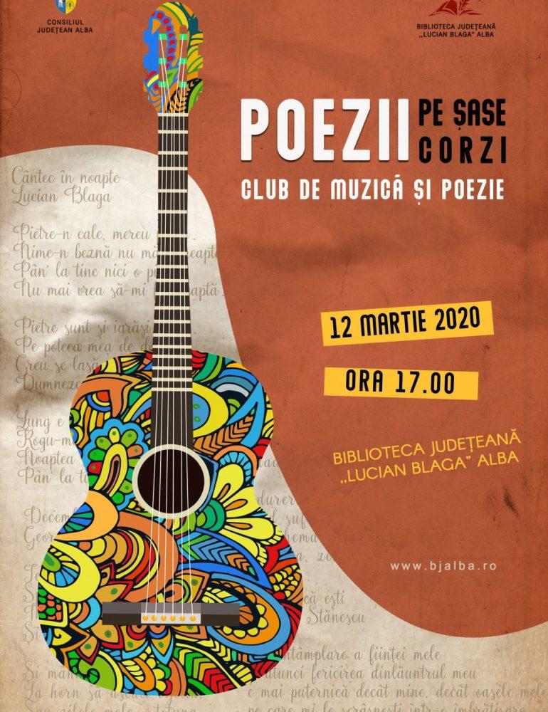 """""""Poezii pe șase corzi"""", un nou proiect cultural la Biblioteca Județeană """"Lucian Blaga"""" Alba"""