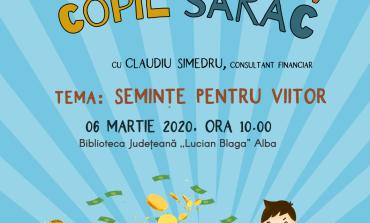 """Copil bogat, copil sărac, proiect de educație financiară, într-o nouă ediție la  Biblioteca Județeană """"Lucian Blaga"""" Alba"""