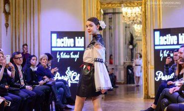 La doar 11 ani, albaiulianca Maya Șoaită, admirată și aplaudată la Paris Fashion Week