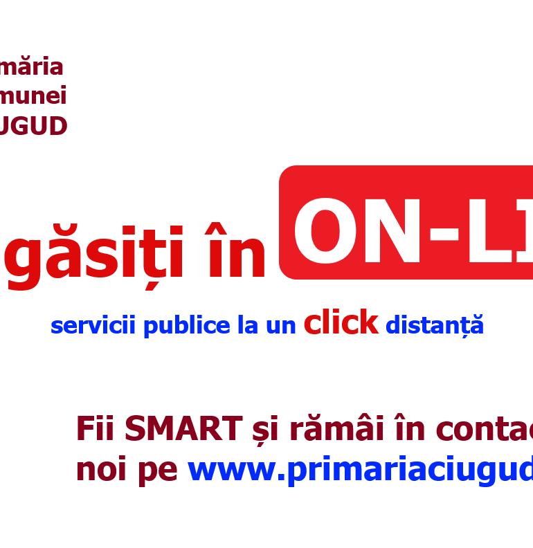 Primăria Ciugud și-a mutat activitatea în on line: Servicii publice digitalizate și secțiune specială de informare despre COVID – 19 pe site-ul instituției