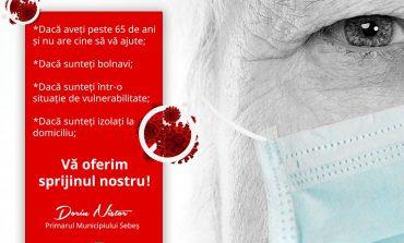 Sebeș: ajutoare de urgență pentru persoanele peste 65 de ani fără venituri și pentru persoanele izolate la domiciliu fără susținători și fără venituri