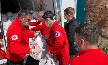 Filiala de Crucea Roşie a Judeţului Alba a distribuit 176 pachete alimentare şi igienico-sanitare persoanelor vârstnice din Aiud