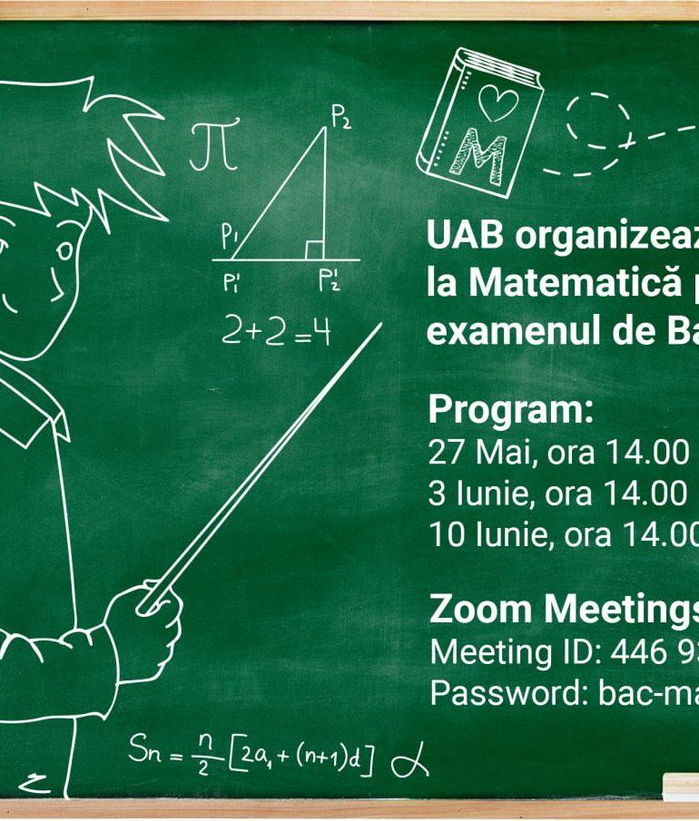 Universitatea din Alba Iulia organizează pregătire la Matematică pentru examenul de Bacalaureat