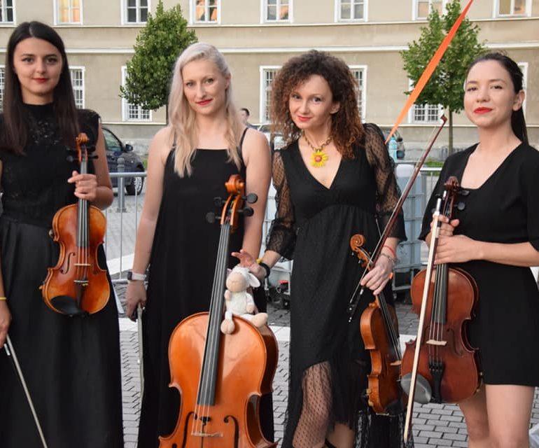 Muzică de cea mai bună calitate în Piața Cetății cu Muse Quartet, la Sărbătoarea Muzicii