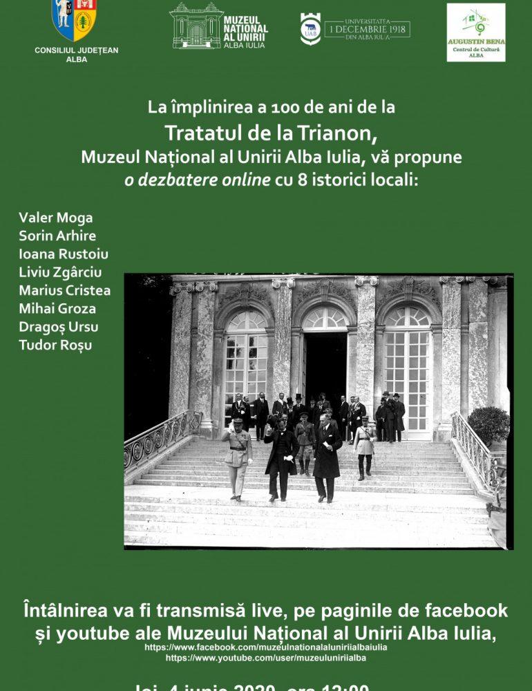 4 IUNIE: Dezbatere online cu ocazia împlinirii a 100 de ani de la Tratatul de la Trianon