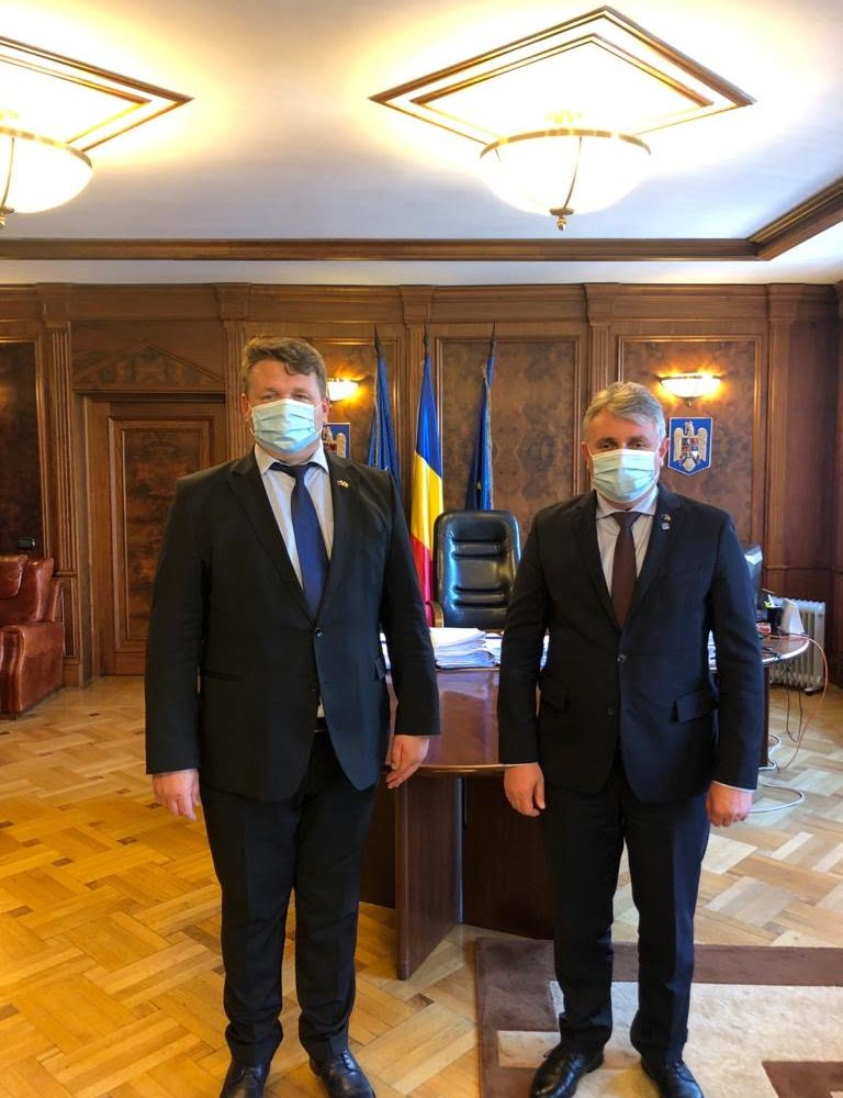 Primarul Dorin Nistor, întâlnire de lucru cu Ministrul Transporturilor, Lucian Bode