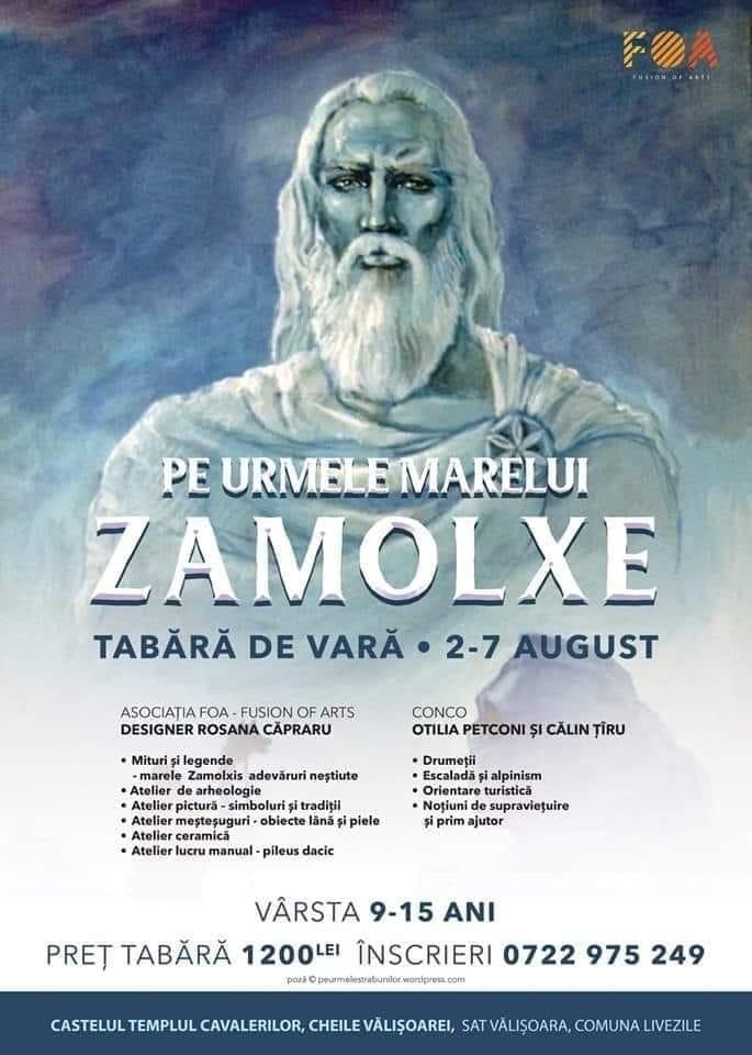 """2-7 AUGUST: Tabăra de vară """"Pe urmele marelui Zamolxe"""", la Castelul Templul Cavalerilor"""