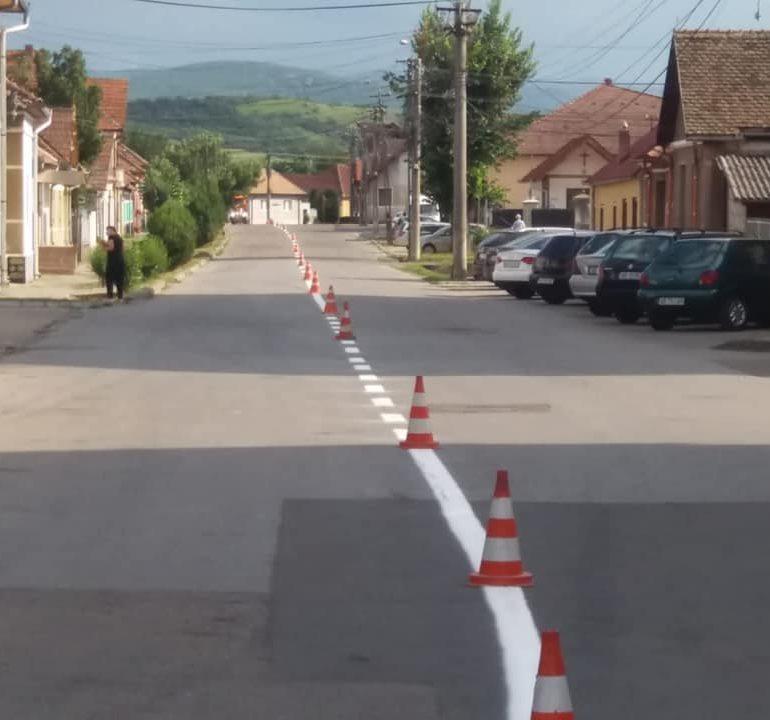 Modernizare de marcaje rutiere pe toate arterele principale din Sebeș, Lancrăm și Petrești