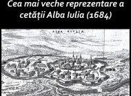 MARȚI: Cea mai veche reprezentare a cetății Alba Iulia (1684), exponatul lunii iulie la Muzeul Unirii din Alba Iulia