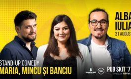 ASTĂZI: Stand-up comedy cu Maria, Mincu și Banciu la Pub Skit' 77
