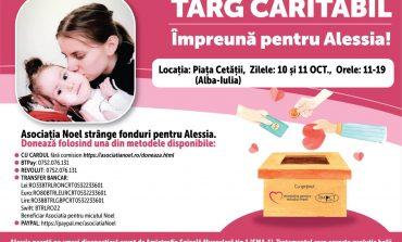 """10-11 octombrie: Târg caritabil """"Împreună pentru Alessia"""", în Piața Cetății din Alba Iulia"""