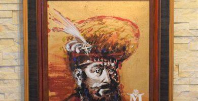 """Tabloul """"M. Rex"""" al artistului Liviu Lăzărescu, donat Colegiului Național Militar """"Mihai Viteazul"""""""