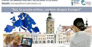 """""""Azi, la școala online, vorbim despre Europa!"""" •Competiție cu premii pentru cadrele didactice"""