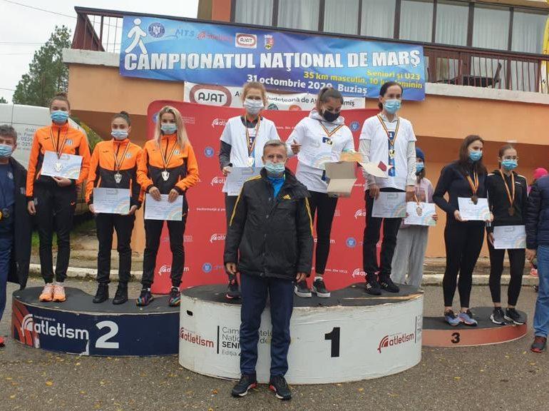 Patru medalii pentru CS Unirea Alba Iulia, obținute la Campionatul Național de 10 kilometri marș