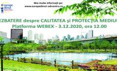 Dezbatere online cu cetățenii din Alba și Sibiu pe teme de protecție a mediului