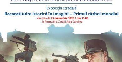 """""""Reconstituire istorică în imagini – Primul Război Mondial"""": expoziție de fotografie dedicată Zilei Naționale a României"""