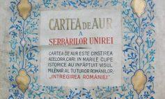 Luni: Cartea de aur a serbărilor Unirii, exponat vernisat la Sala Unirii din Alba Iulia