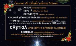 """Centrul de Cultură """"Augustin Bena"""" Alba: """"Colindul din casa ta"""" – concurs on-line de colinde tradiționale"""