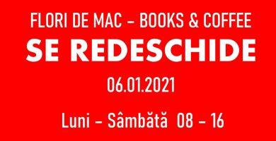 Din 6 ianuarie, Flori de mac Books & Coffee din Alba Iulia își redeschide porțile