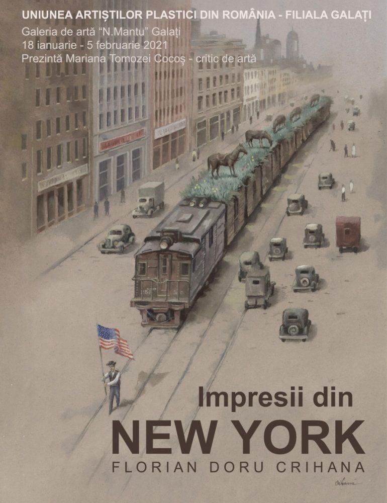 """IMPRESII DIN NEW YORK"", o expoziție de Florian Doru Crihană"