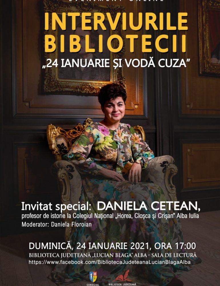 """Ziua Unirii Principatelor Române sărbătorită la Biblioteca Județeană """"Lucian Blaga"""" Alba"""