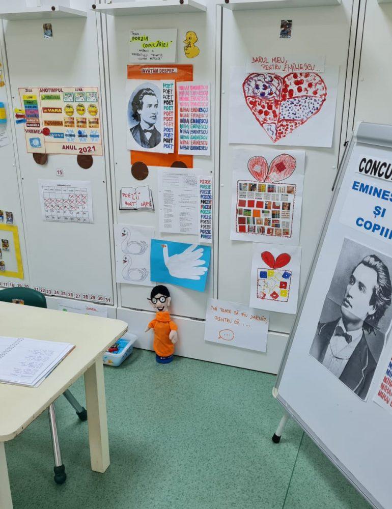 Eminescu și copiii Grădiniței cu Program Prelungit Step by Step nr.12 Alba Iulia