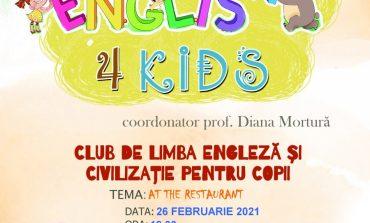 """Proiectul """"English 4 Kids – Clubul de engleză"""" la Biblioteca Județeană """"Lucian Blaga"""" Alba"""