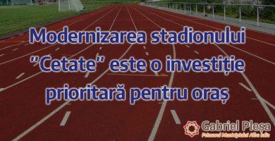 """Au început lucrările de modernizare a pistei de atletism, din incinta stadionului """"Cetate"""""""