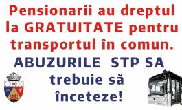 Abuzurile STP SA trebuie să înceteze. Pensionarii au dreptul la gratuitate pentru transportul în comun