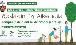 Primăria Alba Iulia lansează o amplă campanie de plantări de arbori și arbuști
