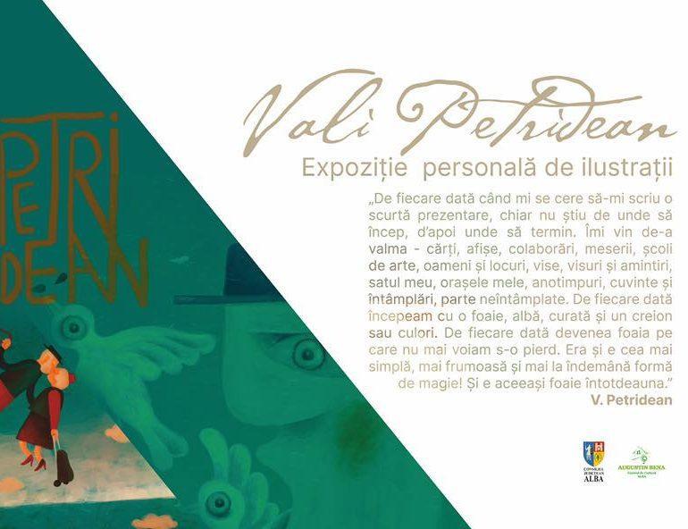 """Spațiul expozițional urban al Centrului de Cultură """"Augustin Bena"""": Expoziție de ilustrații semnată de artistul VALI PETRIDEAN, la Alba Iulia."""