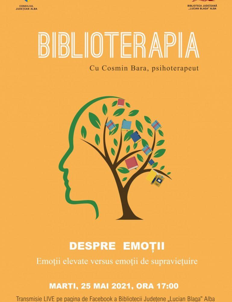 """Despre emoții, tema lunii mai în proiectul """"Biblioterapia"""""""