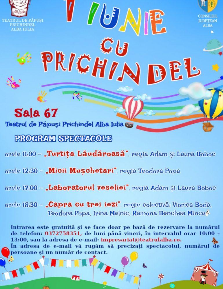 """Teatrul de Păpuși """"Prichindel"""" vă invită, mici și mari deopotrivă, să sărbătorim împreună Ziua de 1 Iunie"""
