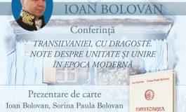 """Acad. Ioan Bolovan va conferenția la Sebeș, vineri, 9 iulie 2021, în cadrul Festivalului """"Lucian Blaga"""""""