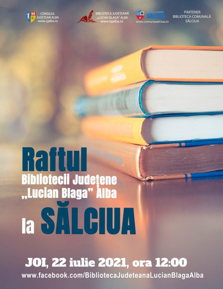 """În luna iulie, Raftul Bibliotecii Județene """"Lucian Blaga"""" Alba merge la Sălciua"""