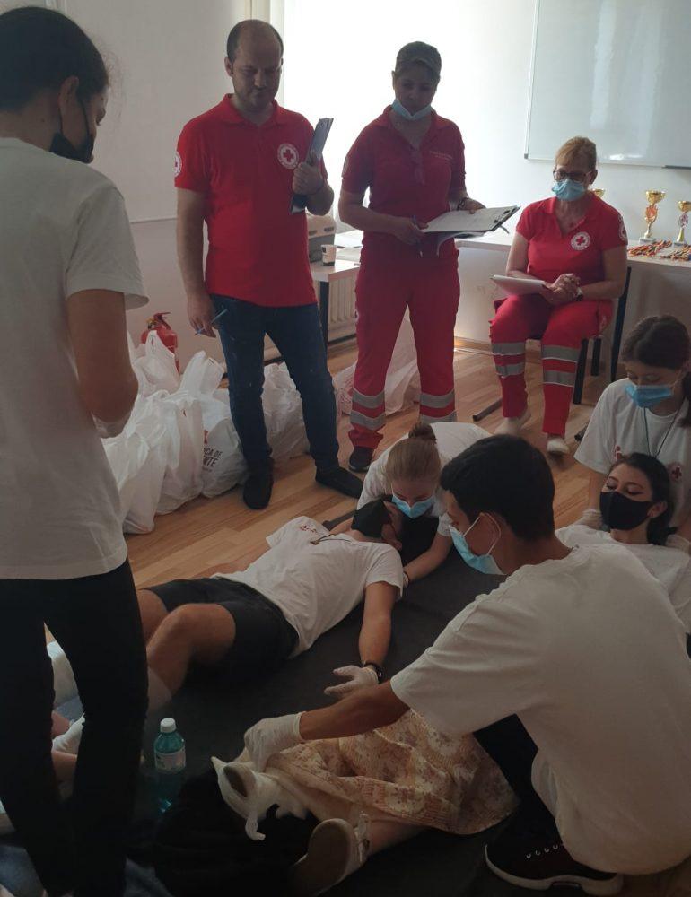 Crucea Roșie Română Filiala Alba a desfășurat faza județeană a concursului Sanitarii Pricepuți